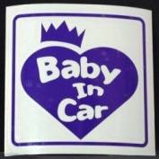 Original sticker Baby In Car Crown Heart (Purple) ST-1075