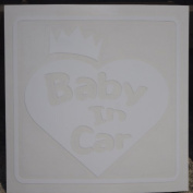 Original sticker Baby In Car Crown Heart (Shirotsuya) ST-1071