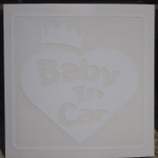 Original sticker Baby In Car Crown Heart (Shirotsuya) ST-1071