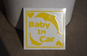 Original sticker Baby In Car dolphin (lemon) SD-1090
