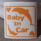 Original sticker Baby In Car dolphin (Orange) SD-4097