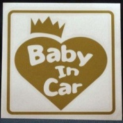 Original sticker Baby In Car Crown Heart (Gold) ST-1079