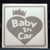 Original sticker Baby In Car Crown Heart (Silver) ST-1078