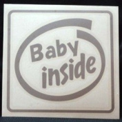 Original sticker Baby inside (Silver) ST-1018