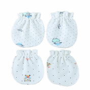 2 Pairs Newborn Infant Baby Soft Cotton Anti Scratch Mittens Gloves Mix Colours