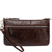 Vicenzo Leather Maci Distressed Leather Crossbody/Clutch