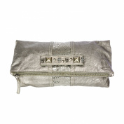 Religion Women's Faux Leather Viper Clutch Bag One Size Silver
