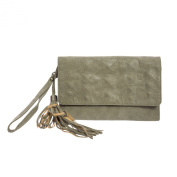 Religion Women's Abstract Faux Leather Clutch Bag One Size Taupe
