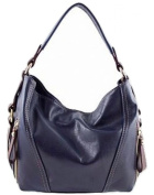 LaGaksta Amy Soft Italian Leather Shoulder Crossbody Hobo Handbag