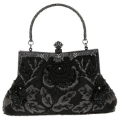 Bywen Womens Vintage Sequined Purse Party Clutch Shoulder Bags