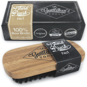 Beard Brush for Men - 100% Natural Boar Bristle, Eco Friendly Bamboo Handle, Best For Grooming, Facial Hair, Moustaches, Balms, Oils and Waxes