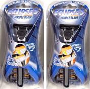 """Eclipse 7.6cm Triple Blade Razor w/Aloe Strip & 3 Replacement Cartridges"