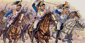 ESCI / ERTL Set P235 French Cuirassiers Plastic Toy Soldier set in 1/72 scale