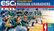 ESCI / ERTL Set P236 Napoleonic Russian Grenadiers Plastic Toy Soldier set in 1/72 scale