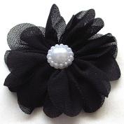 25pcs Fabric Ribbon Flowers Bows Rhinestone Appliques Craft Bulk A445