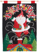 BUCILLA 86682 Believe Santa Felt Applique Wall Hanging Kit, 37cm x 50cm