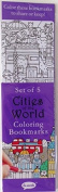 Re-marks Cities of the World 5 Colouring Bookmarks