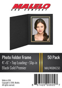 Black/Gold Cardboard Photo Folder Frame 4X6 - Pack of 50