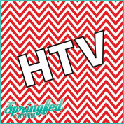 CHEVRON PATTERN #4 HTV Red & White Heat Transfer Vinyl 30cm x 36cm Chevron Stripes for Shirts