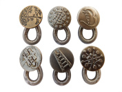 Spring Button Waist Extender Antique Brass Metal Add up 5.1cm on Jeans Pants Instantly