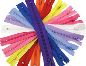 FNFA 20pc mix Nylon Coil Zippers Tailor Sewer Craft 23cm Crafter's Special