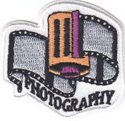 """""""PHOTOGRAPHY"""" PATCH - Iron On Embroidered Patch -Words,Professions, Hobby"""