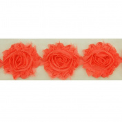 DIY PARK 1 Yard 3D Chiffon Frayed Shabby Rose Flower Trim Lace Baby Headband Bridal Wedding Dress