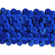 3.2cm 3-Row Royal Blue Stretch Sequin Trimming