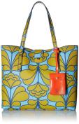 Orla Kiely Damask Flower Textured Vinyl Tillie Top Handle Bag