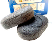 2 Set Best EXTRA LARGE Activated Charcoal Konjac Root Facial and Body Sponges - Purest Form of Vegan ALL Natural Beauty Products - Eco Friendly Hypoallergenic
