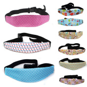 Lackingone coloured baby Stroller Safety Belt Baby Car Head Support Easy Installation on Most Covertible Seats