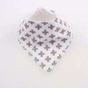 BayBee Bandana Drool Bib, Organic Cotton w/ Snaps, Unisex, Single Cute Baby Gift