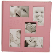 Baby Pink Quality Baby Girl Memory Photo Album - holds 240 4x6 pictures