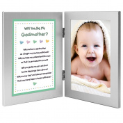 Will You Be My Godmother. Keepsake Frame - Add Baby Photo
