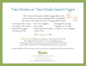 Tessera Baby Books Baby Memory Book Insert Pack, Two Moms or Two Dads