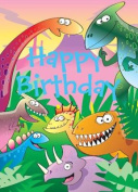 Dinosaurs - Happy Birthday Card-Book