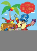 Pirates - Happy Birthday Card-Book