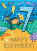 Diver - Happy Birthday Card-Book
