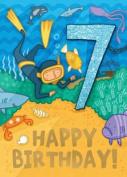 Diver - Happy Birthday Card-Book