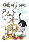 Animals - Get Well Colouring Card-Book