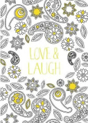 Love Laugh - Adult Colouring Card-Book