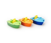 Green Toys BTSA-1105 Sport Boat Assortment Vehicle - The blue Launch Boat, orange Race Boat, and green Speed Boat