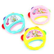 1 Round Jingle Hand Shake Grasp Bells Baby Toddler Musical Develop Toy Xmas Gift ---- Randomly Colour