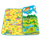 Double-side Extra Large Baby Crawling Outdoor Picnic Mat,79*71*0.5cm L*W*H