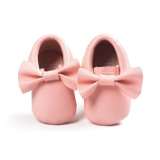 Anna-Kaci Baby Bow Soft Sole Leather Shoes Infant Boy Girl Toddler Moccasin 0-18 Months