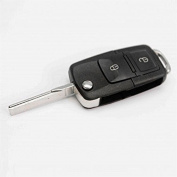 Darpy(TM)2 Buttons Remote Flip Folding Car Key Shell Replacement Car Key Case Cover for VW Volkswagen Golf MK4 Bora Uncut Blade.