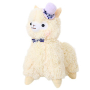35cm Cute Hat Series Alpaca Plush Toy Soft Stuffed Animal Doll