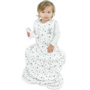 Woolino 4 Season Baby Sleep Bag - Merino Wool Baby Sleeping Bag 2Mo-2Yrs Stars Grey