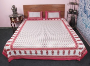 100 % COTTON BEDDING SET KING SIZE DECORATIVE ETHNIC PRINTED BEDDING SET BEDDING COVER