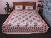 Amazing Super King Size 3 Pc Bed Cover Set New 100% Cotton With Pillow Case
